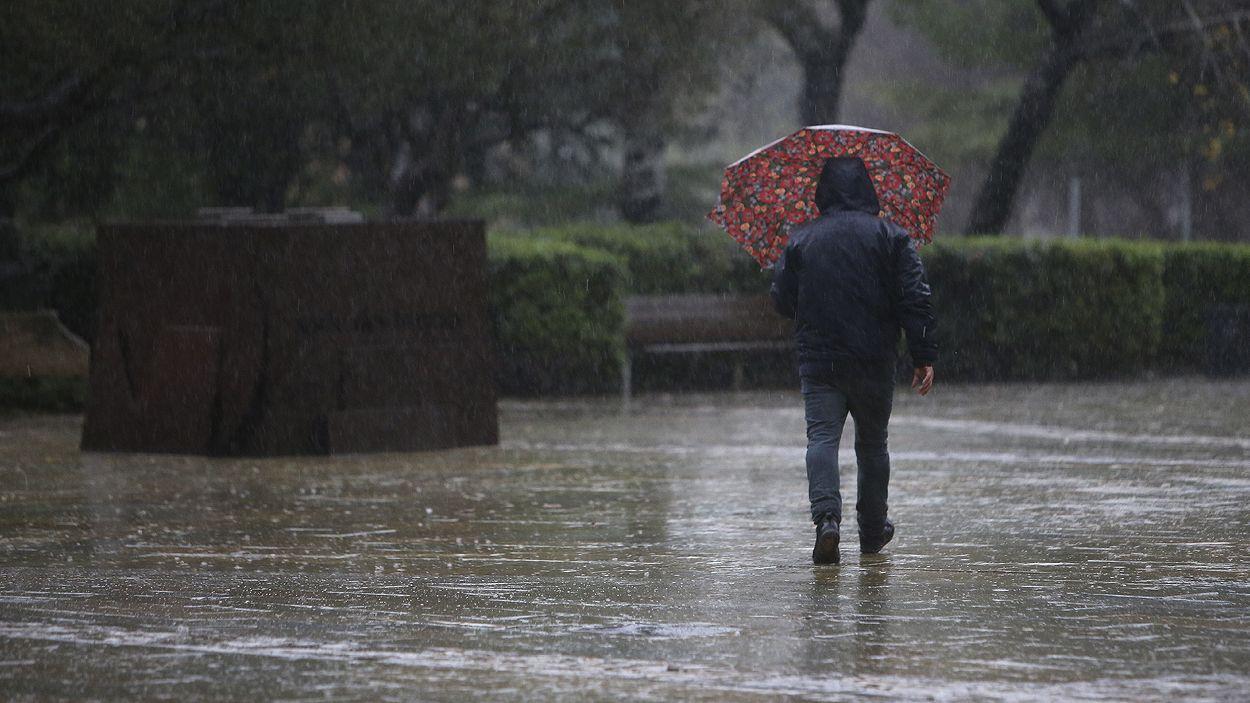 Imatge del temporal / Foto: Cugat Mèdia (Lluís Llebot)
