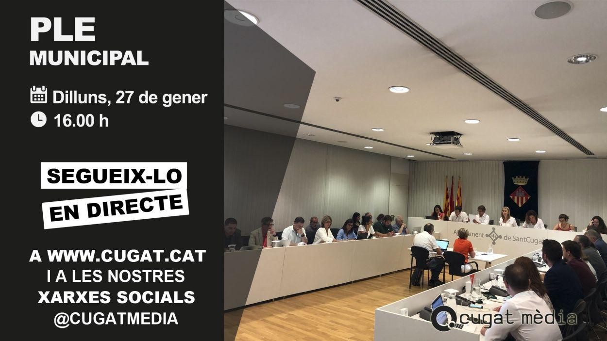 El ple municipal es pot seguir en directe a www.cugat.cat / Foto: Cugat Mèdia
