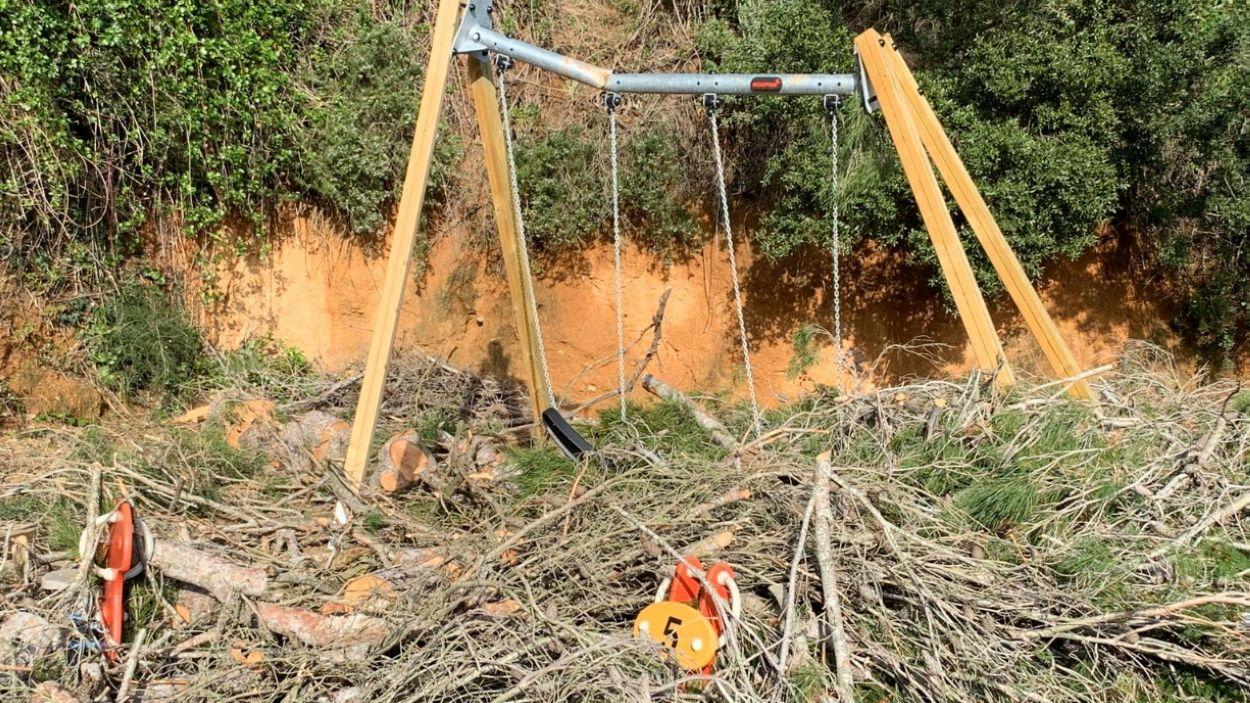 Efectes del temporal Glòria a Sant Cugat / Foto: Lluís Llebot (Cugat Mèdia)