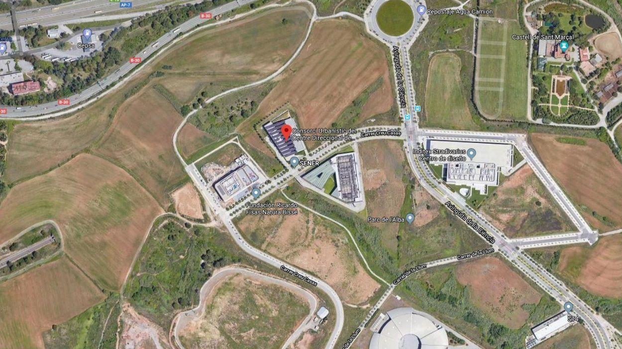 Imatge del terreny on està previst ubicar el Centre Direccional de Cerdanyola / Foto: Google Maps