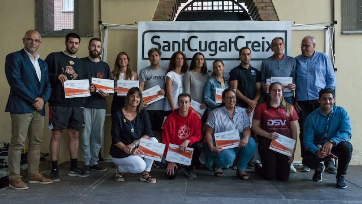 Participants de l'E4S a la cloenda del programa municipal / Foto: SantCugatCreix
