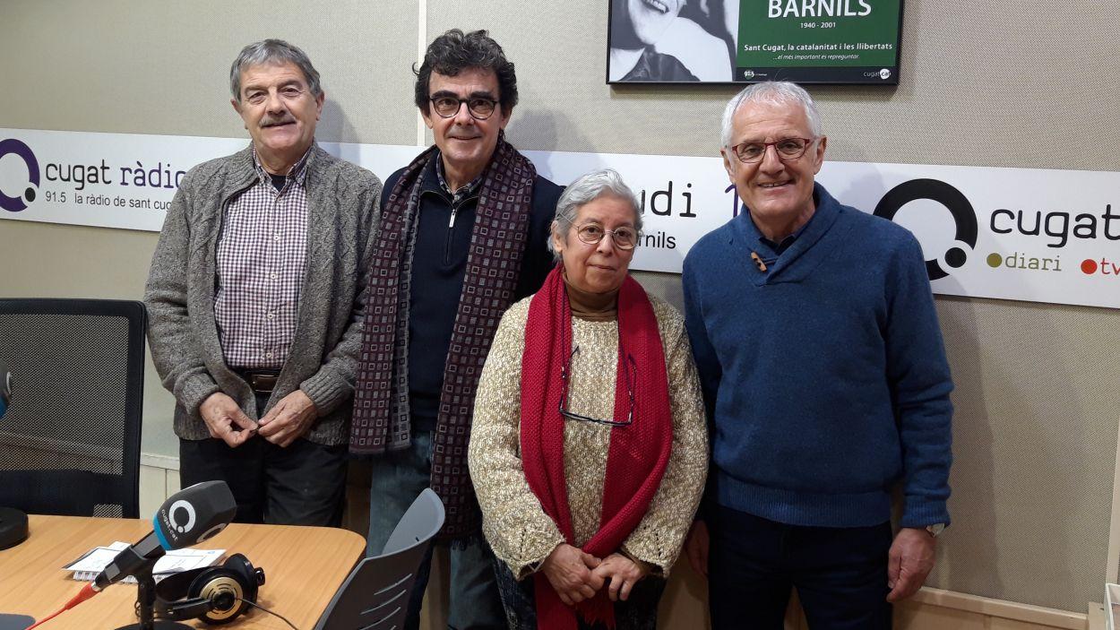 Concha Cardona amb Àlvar Roda, Toni Samsó i Rogeli Pedró / Foto: Cugat Mèdia