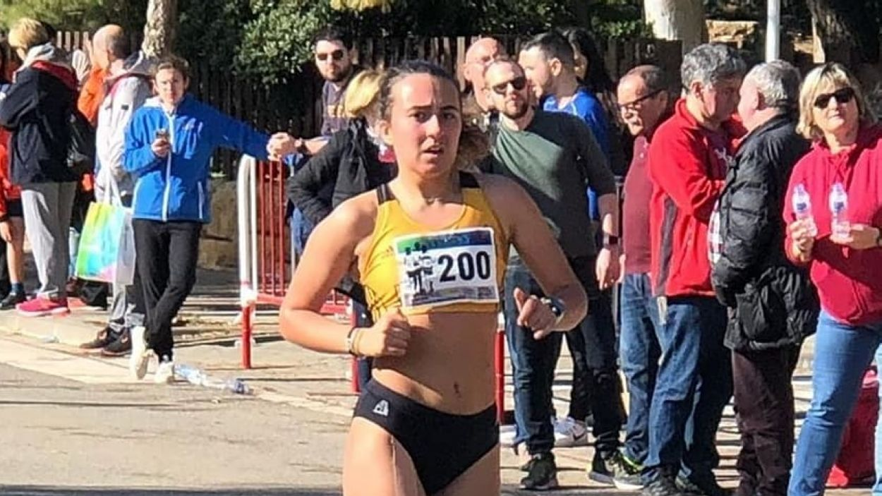 Noa Rodríguez durant la cursa / Font: Muntanyenc