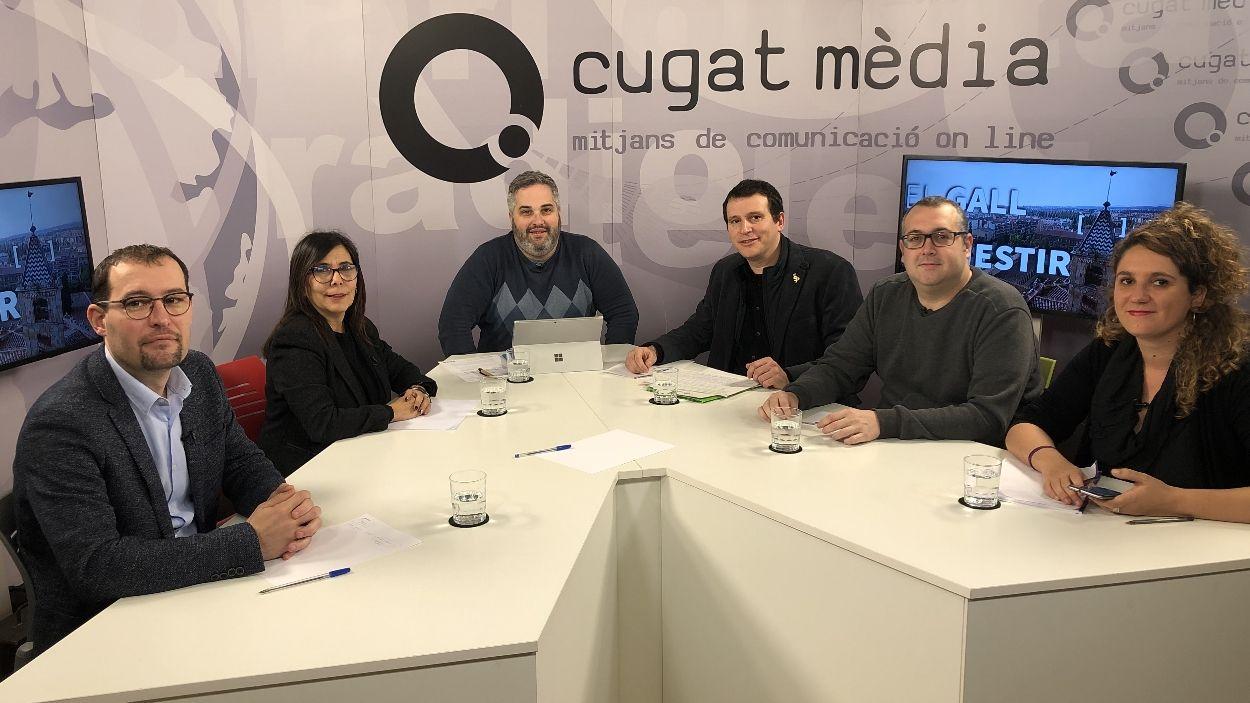 Els representants dels partits polítics / Foto: Cugat Mèdia