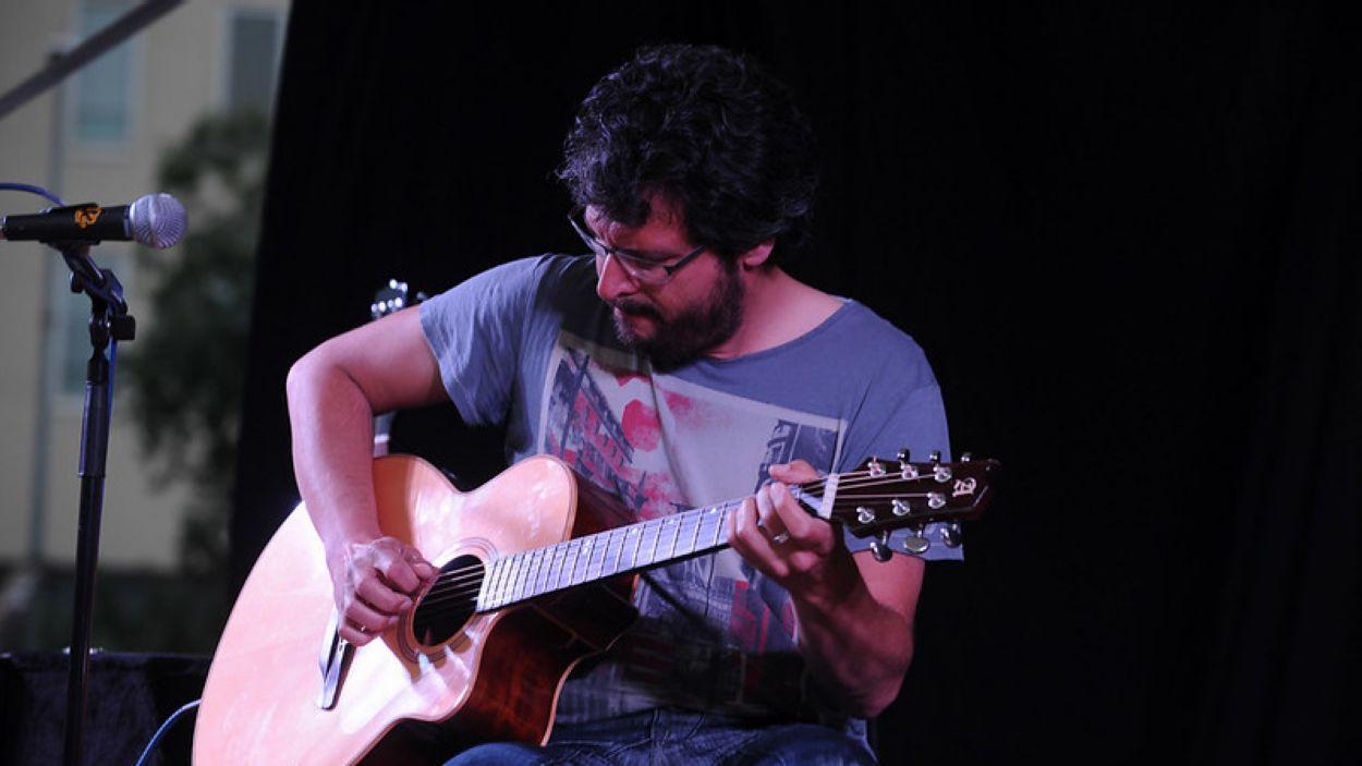 Imatge d'arxiu d'Oriol Saltor en concert a Sant Cugat / Foto: Localpres