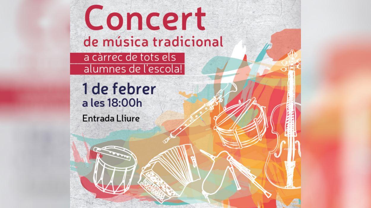 Concert de música tradicional a càrrec dels alumnes de l'EMTSC