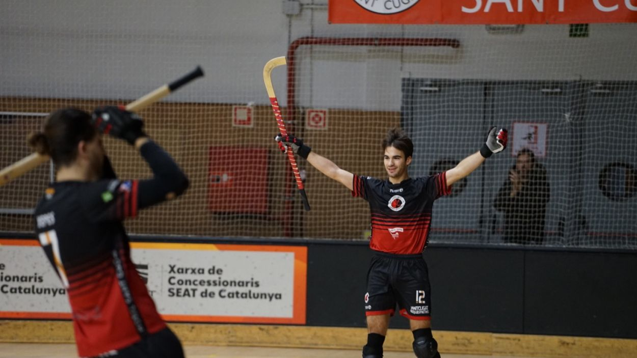 Pau Gilabert ha marcat quatre dels vuit gols del Patí Hoquei / Font: Guillem Babistch