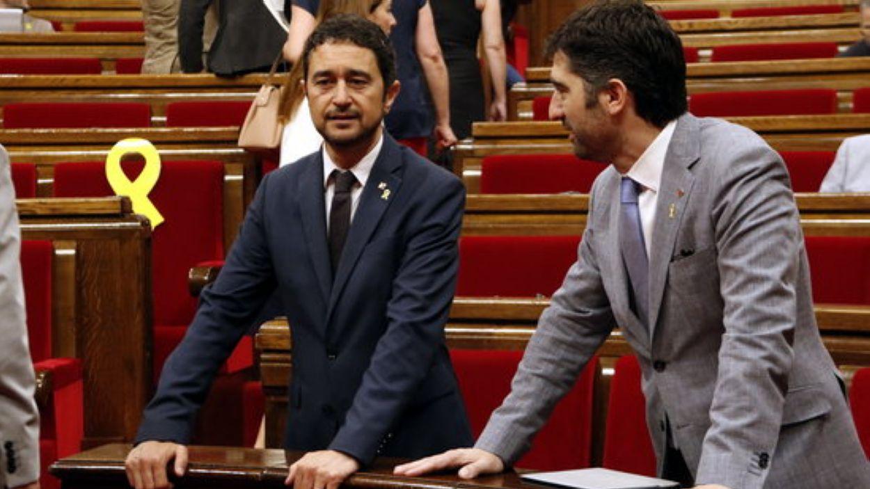 Damià Calvet i Jordi Puigneró també són exregidors de l'Ajuntament de Sant Cugat / Foto: ACN