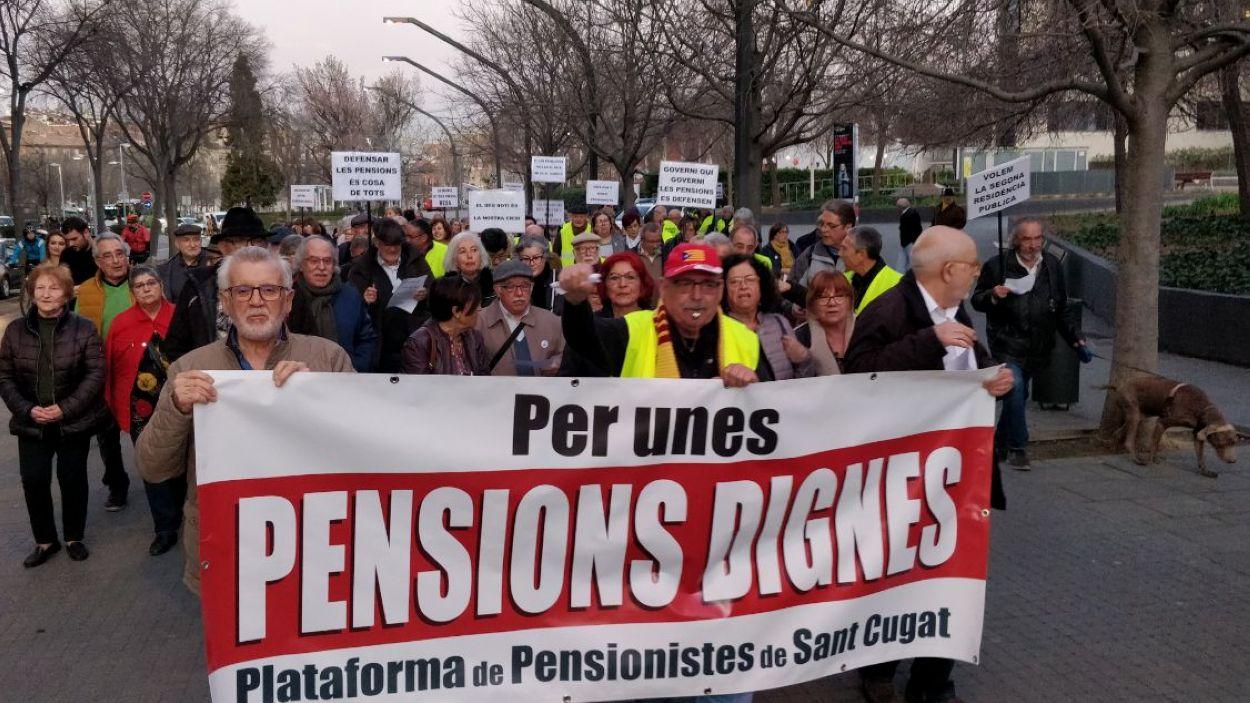 La manifestació a la Rambla del Celler / Foto: Cugat Mèdia