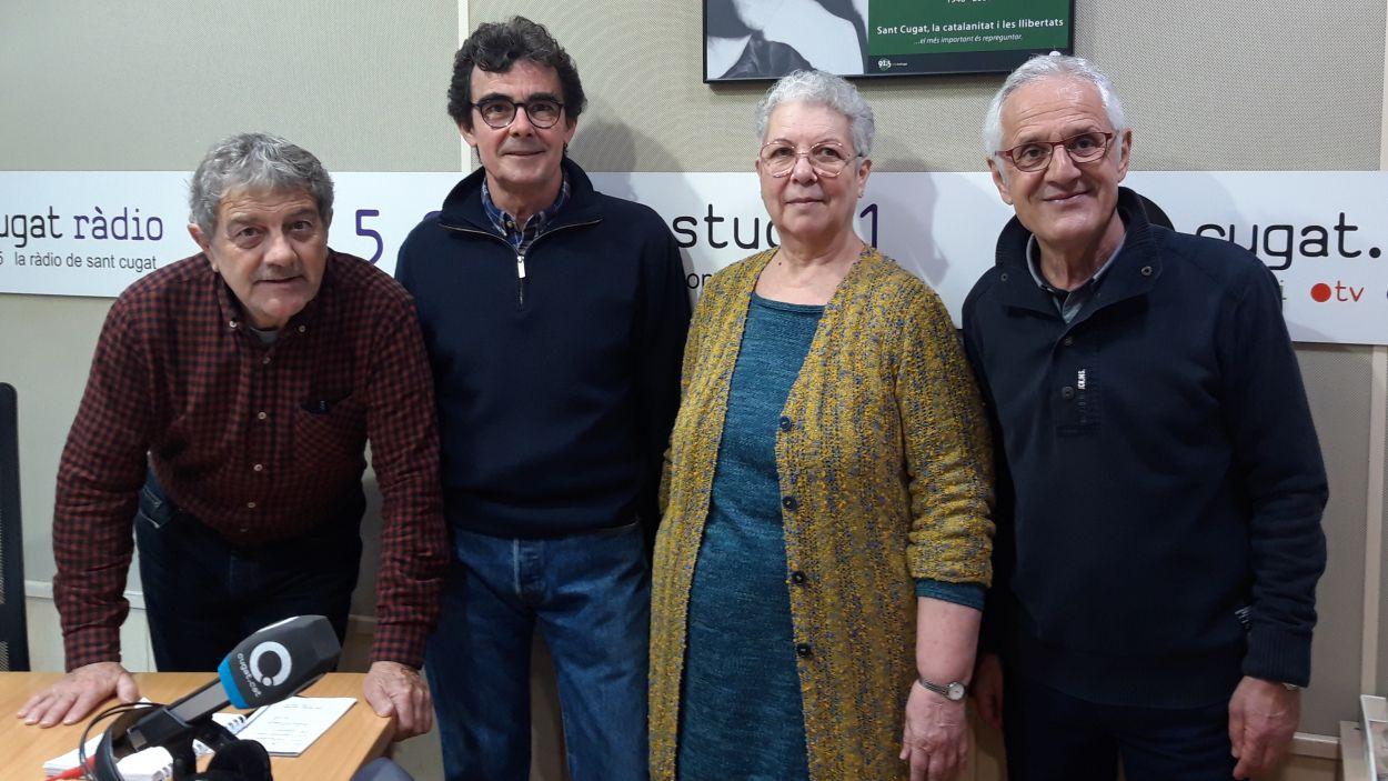 Yelina Velázquez amb Àlvar Roda, Toni Samsó i Rogeli Pedró / Foto: Cugat Mèdia