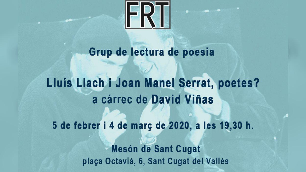 Grup de lectura: 'Lluís Llach i Joan Manuel Serrat, poetes?'