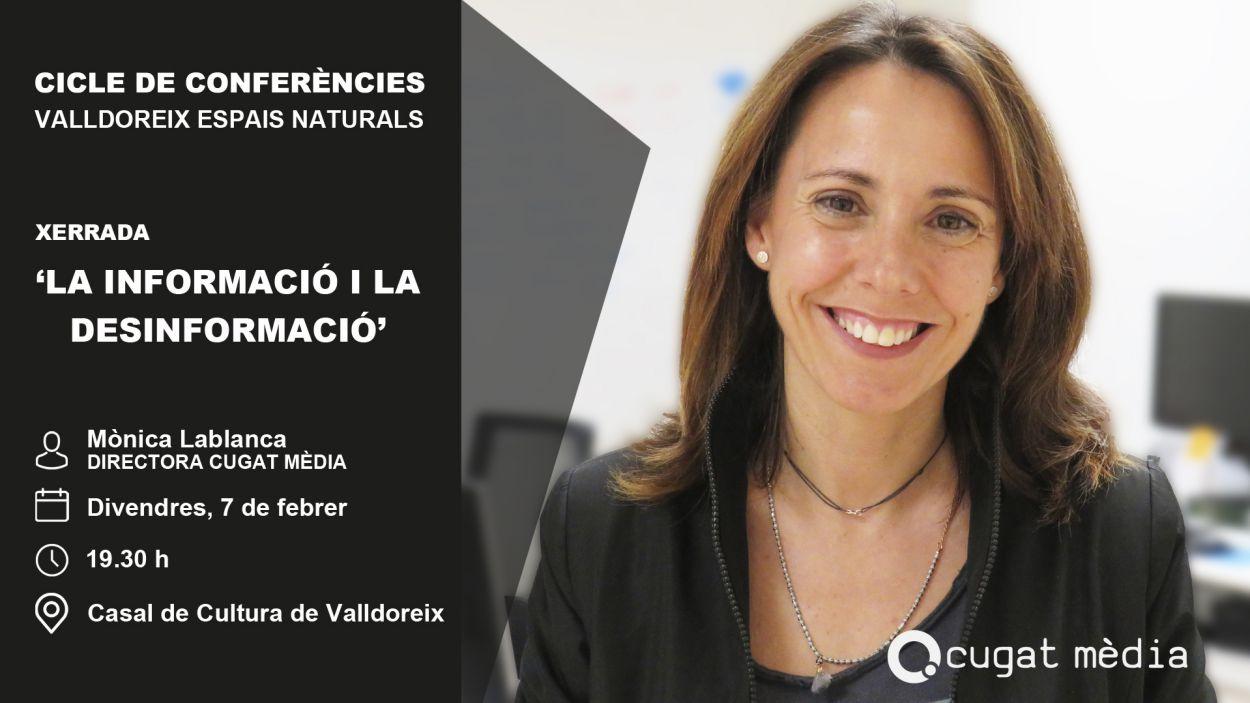 Mònica Lablanca, protagonista de la conferència / Foto: Cugat Mèdia