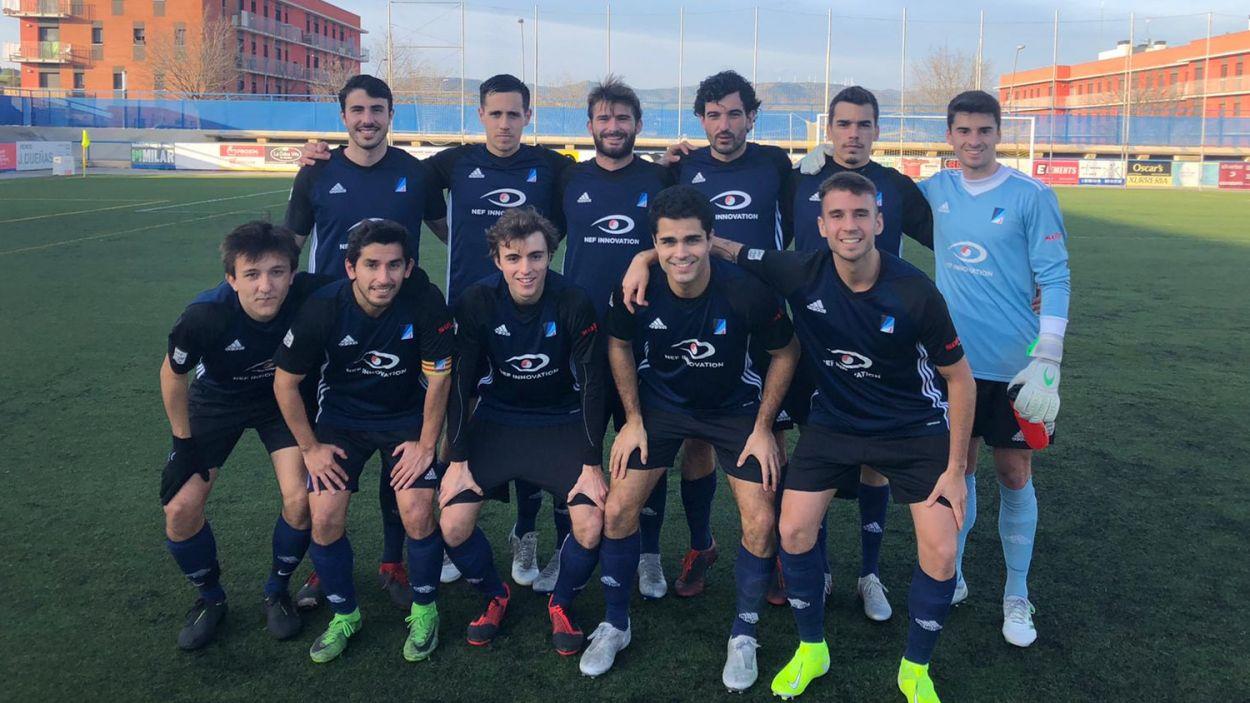 Onze titular de l'Atlètic Junior al camp del San Mauro / Font: Atlètic Junior
