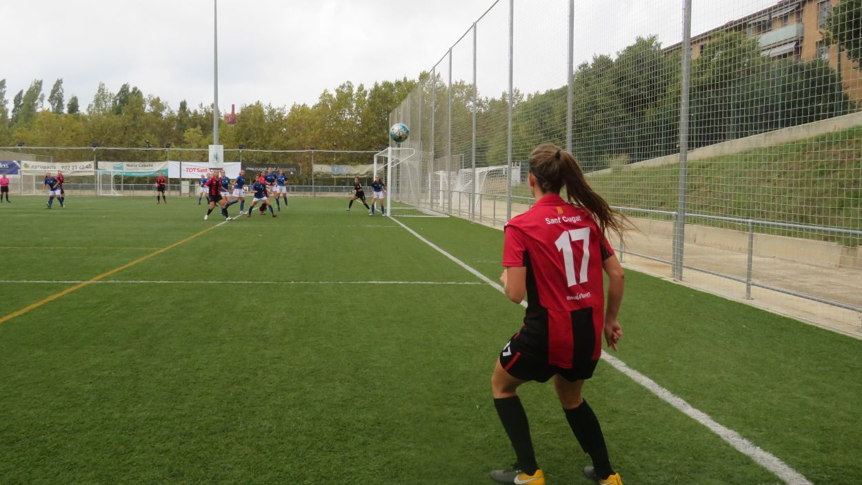 Imatge d'arxiu d'un partit del Sant Cugat FC / Foto: Cugat Mèdia