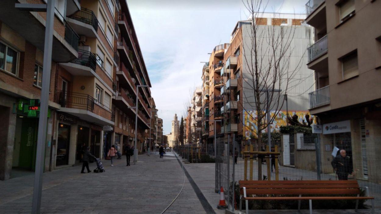 Imatge d'arxiu de l'avinguda Cerdanyola vianantitzada / Foto: Ajuntament de Sant Cugat