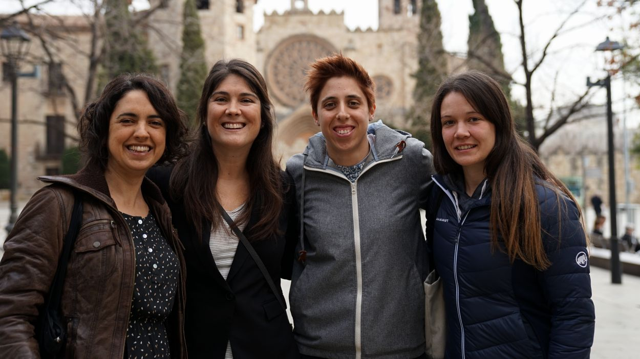 Laura Calvet Mir, Flor Correa Fiz, Clara Remacha Corbalán i Nadia Tarifa Mateo / Foto: Guillem Babitsch