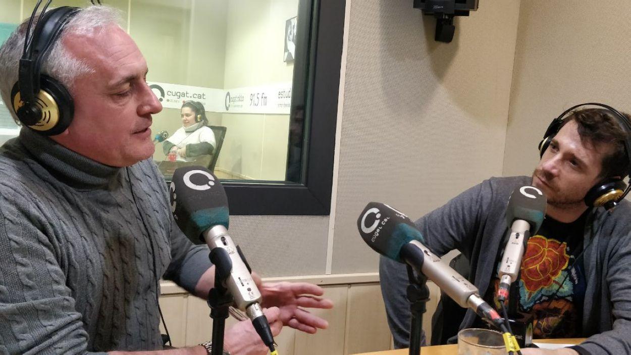 Lluís Cabal, músic de l'Orquestra Simfònica del Vallès i Andrés Salado, jurat al programa Prodigios de TVE / Foto: Cugat Mèdia