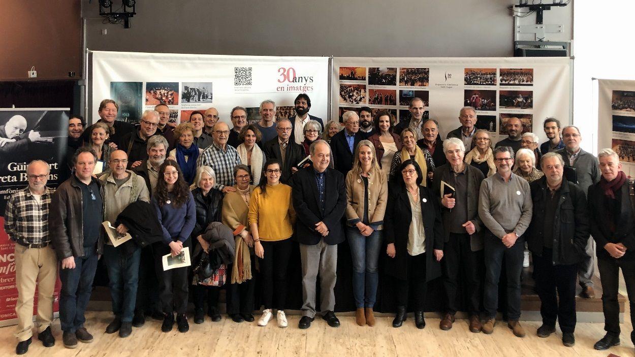 Fotografia de família de l'Orquestra Simfònica de Sant Cugat / Foto: Cugat Mèdia