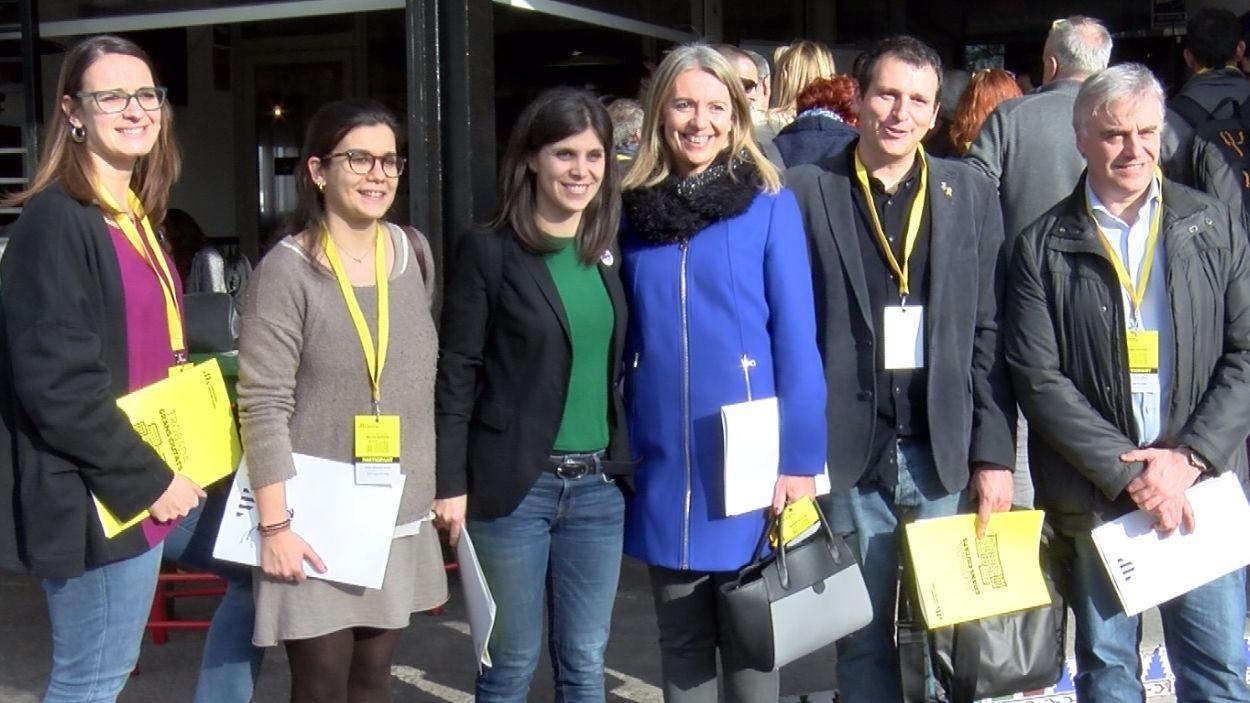 D'esquerra a dreta, Gemma Aristoy, Esther Madrona, Marta Vilalta, Mireia Ingla, Francesc Duch i Francesc Carol / Foto: Cugat Mèdia