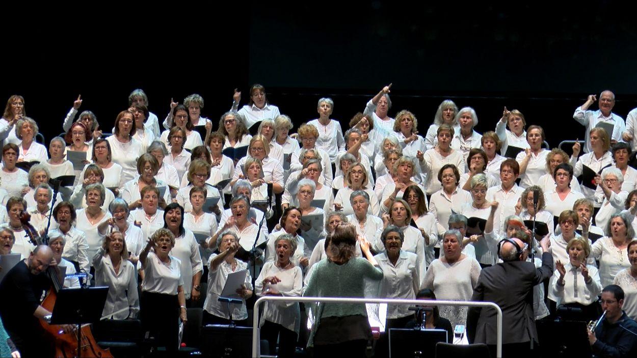 El 'Canta Gran' ha fet vibrar el Teatre-Auditori / Foto: Cugat Mèdia