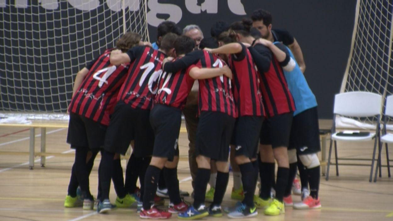 Imatge del triomf del Futbol Sala Sant Cugat / Font: Cugat Mèdia