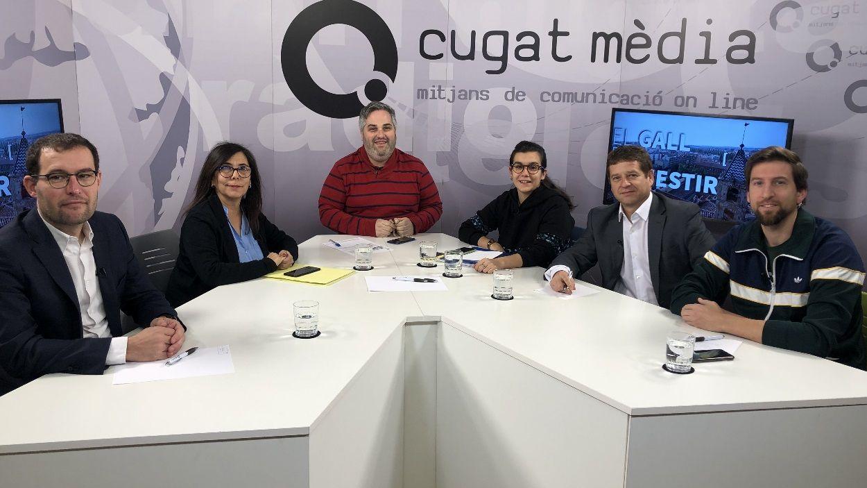 Els representants polítics que han assistit a la tertúlia / Foto: Cugat Mèdia