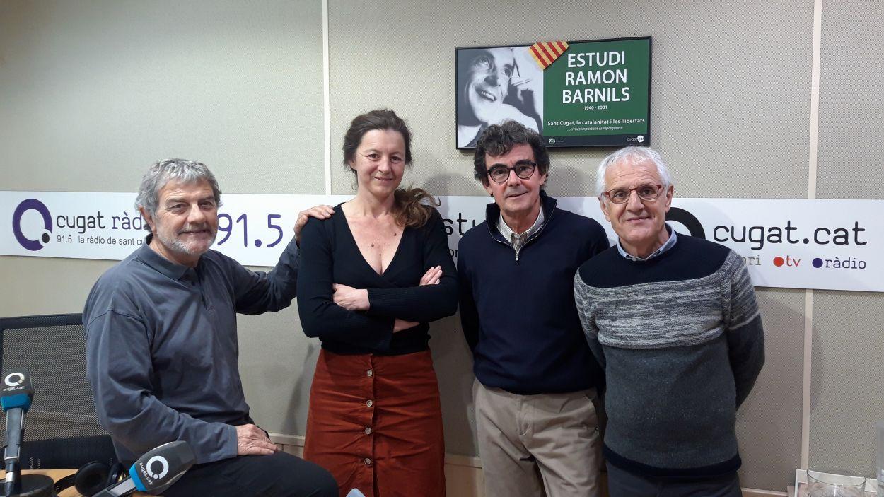 Eva Serrats Luyts a l'estudi de Cugat Mèdia / Foto: Cugat Mèdia