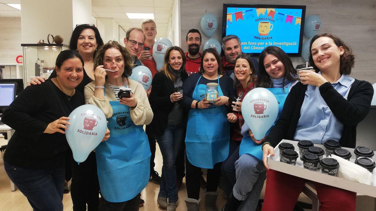 Cugat Mèdia va participar a la xocolatada solidària de l'any 2020 / Foto: Cugat Mèdia