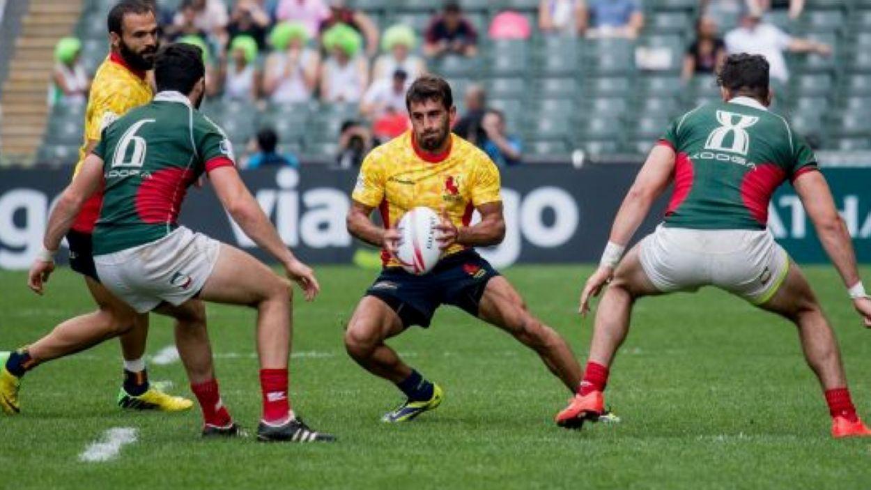 Pol Pla jugant amb la selecció espanyola / Font: Federació Espanyola de Rugby
