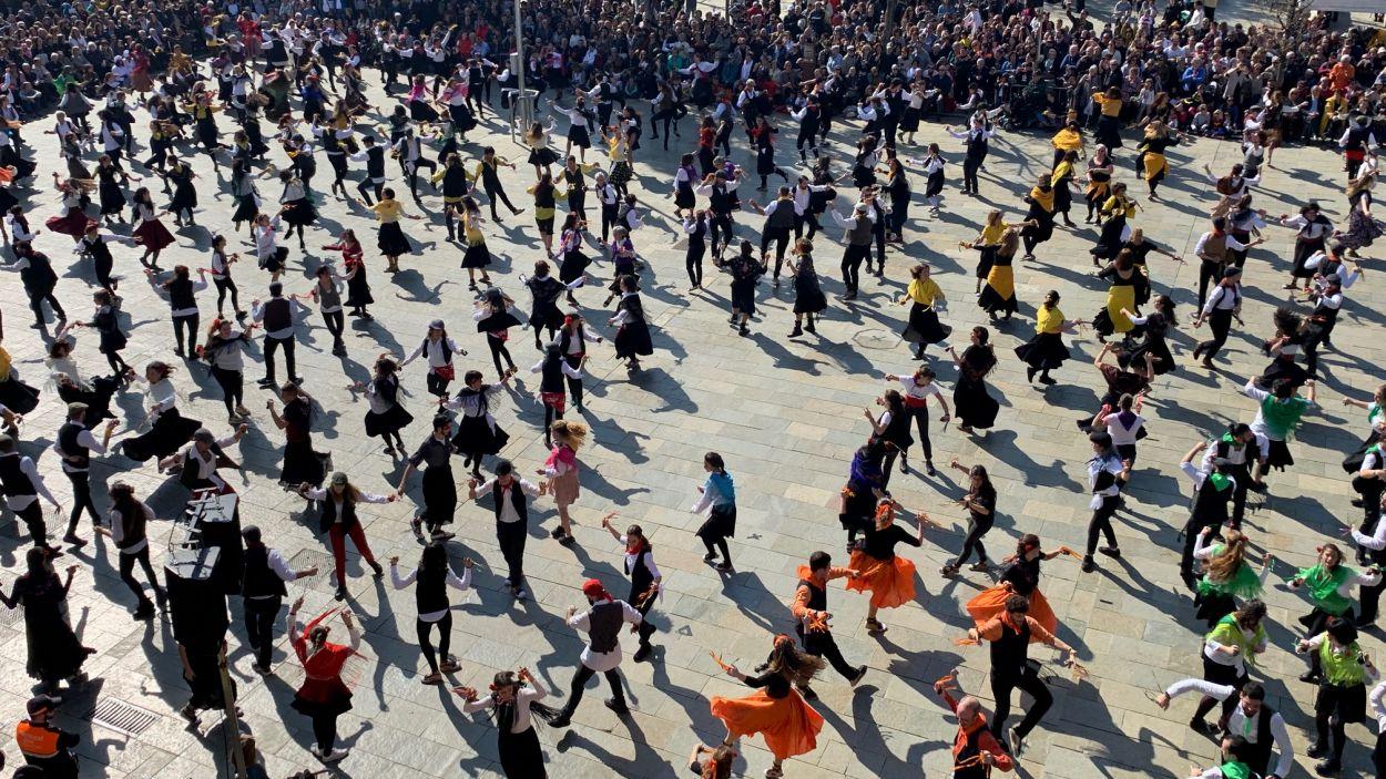 El Ball de Gitanes es ballarà des dels portals / Foto: Lluís Llebot (Cugat Mèdia)