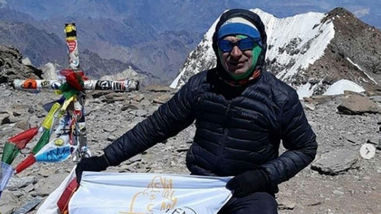 Xavi Ortega ha coronat el cim de l'Aconcagua / Font: Club Muntanyenc Sant Cugat