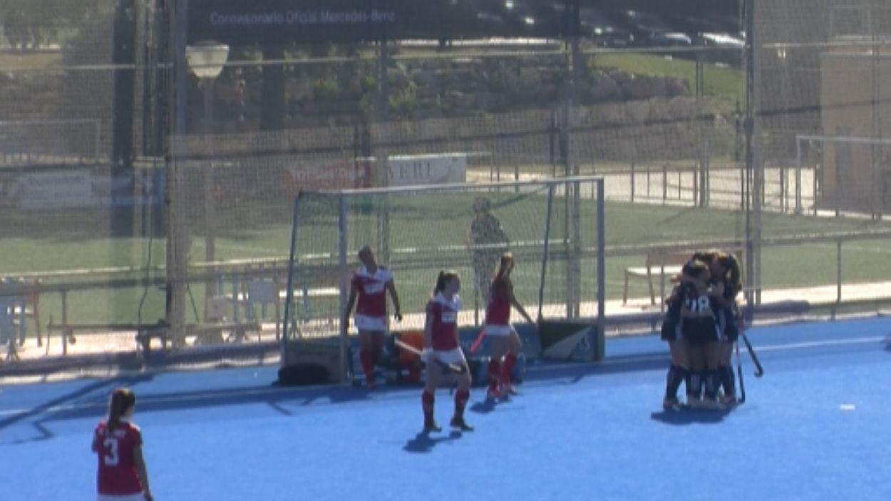 Celebració del segon gol del Junior / Font: Cugat Mèdia