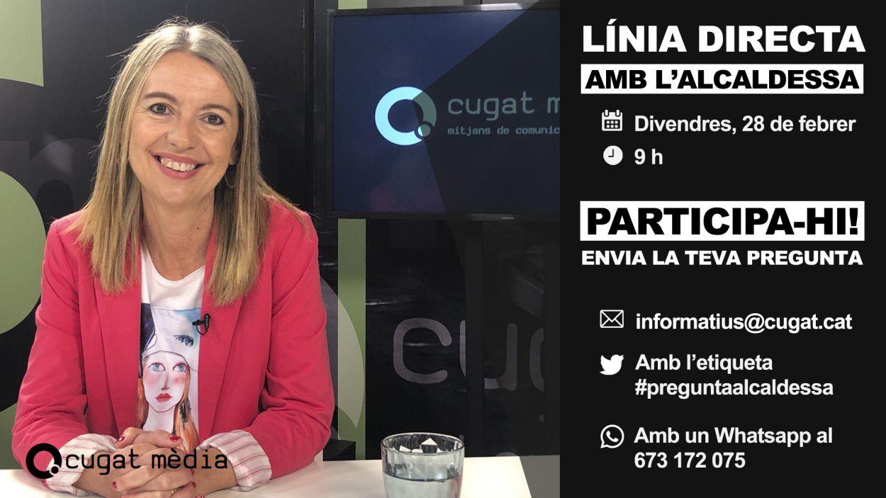 L'entrevista a l'alcaldessa de Sant Cugat s'emet en directe a www.cugat.cat / Foto: Cugat Mèdia