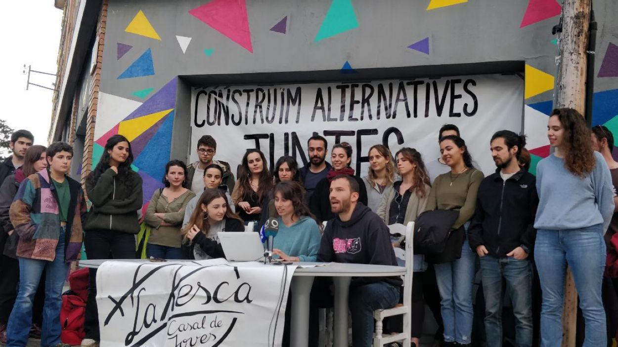 La roda de premsa ha tingut lloc a l'edifici de La Xesca / Foto: Cugat Mèdia