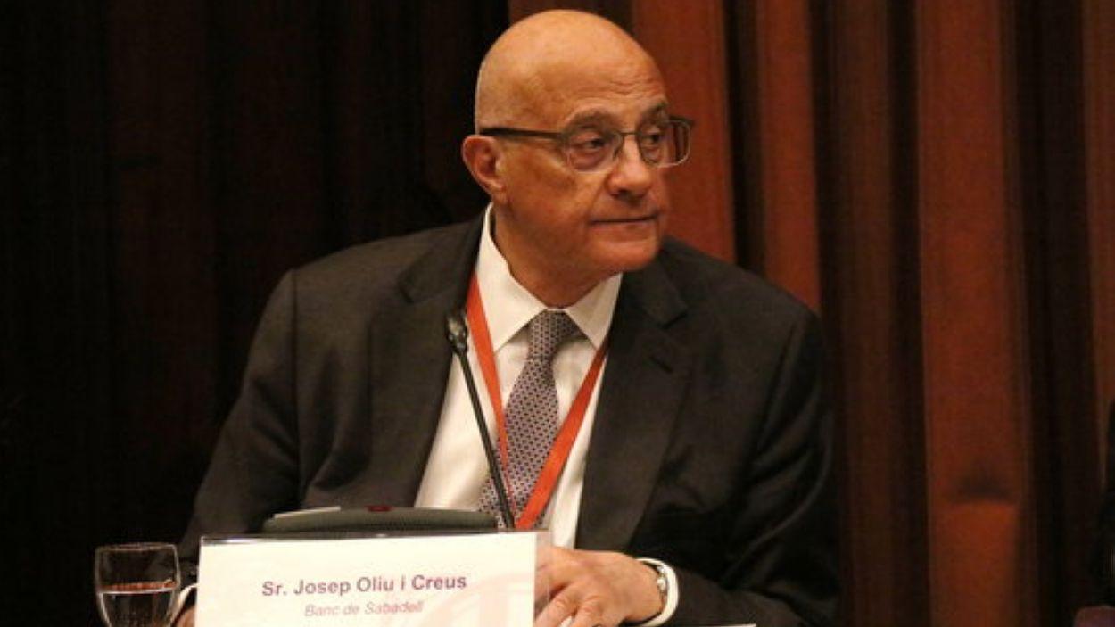 Josep Oliu, president de Banc Sabadell, amb seu corporativa a Sant Cugat / Foto: ACN