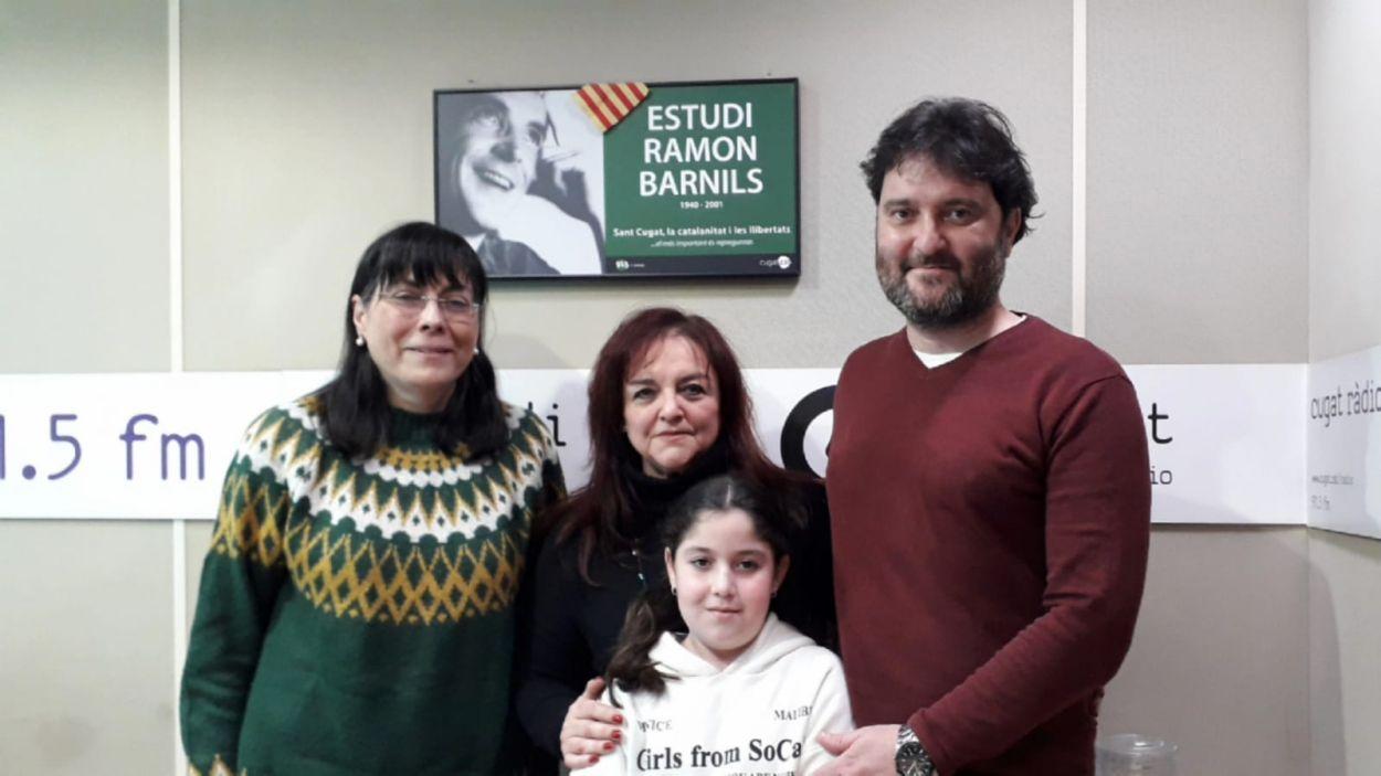Marc Moreno (dreta) a l'estudi Ramon Barnils de Ràdio Sant Cugat / Foto: Cugat Mèdia