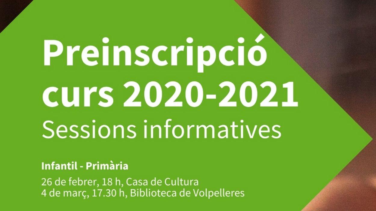 Sessions informatives preinscripció curs 2020-21: Infantil - Primària