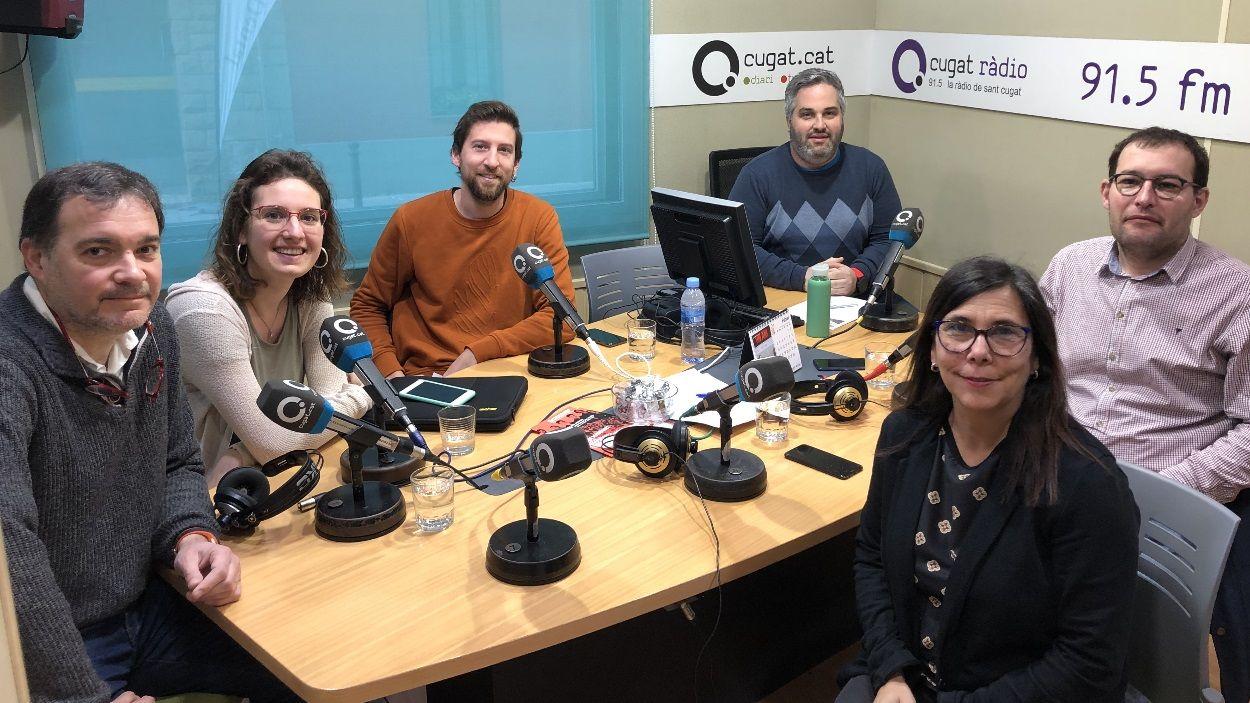 Els representants polítics que han participat a la tertúlia / Foto: Cugat Mèdia