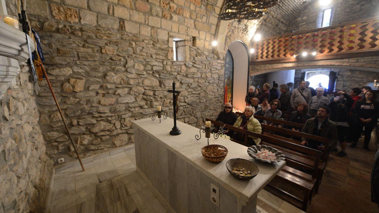 Interior de l'ermita de Sant Medir / Foto: Localpres