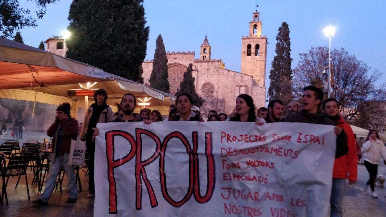 La manifestació ha recorregut els carrers de Sant Cugat / Foto: Cugat Mèdia