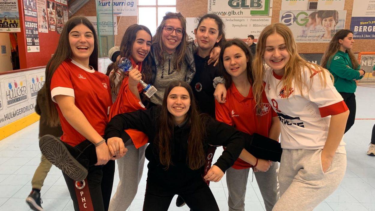 Les jugadores de l'equip vermell-i-negre / Foto: Cedida