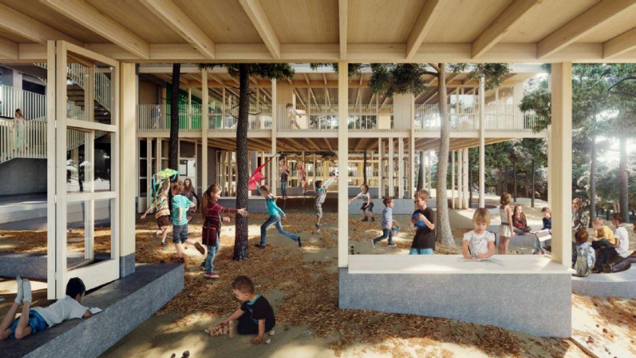 Imatge del projecte de l'escola La Mirada / Foto: Ajuntament de Sant Cugat