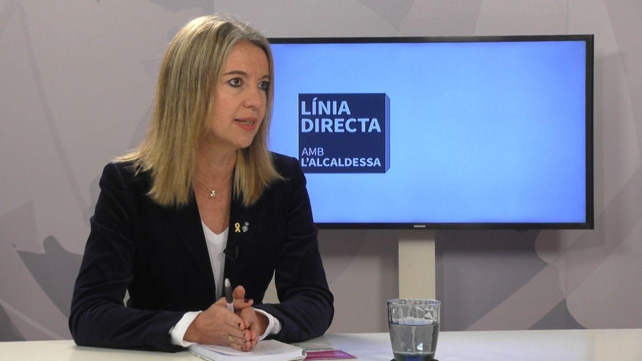 Mireia Ingla, al plató de Cugat Mèdia / Foto: Cugat Mèdia