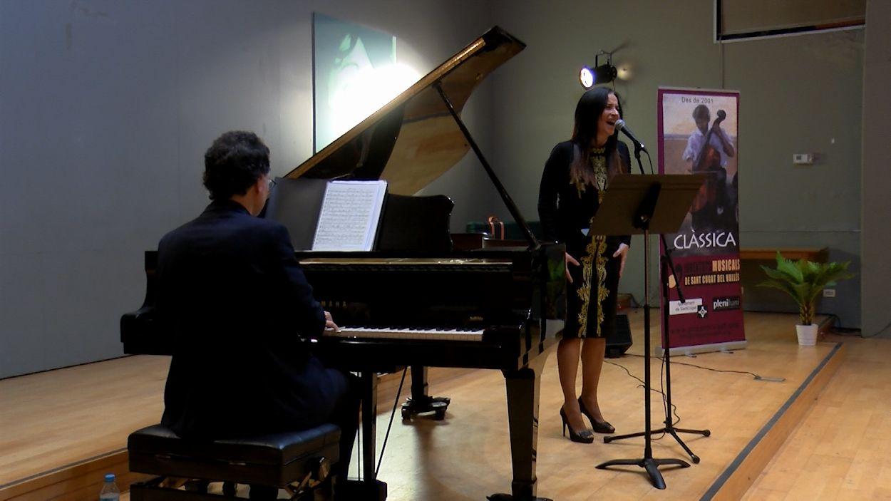Anna Luna i Jaume Vilaseca durant el concert / Foto: Cugat Mèdia