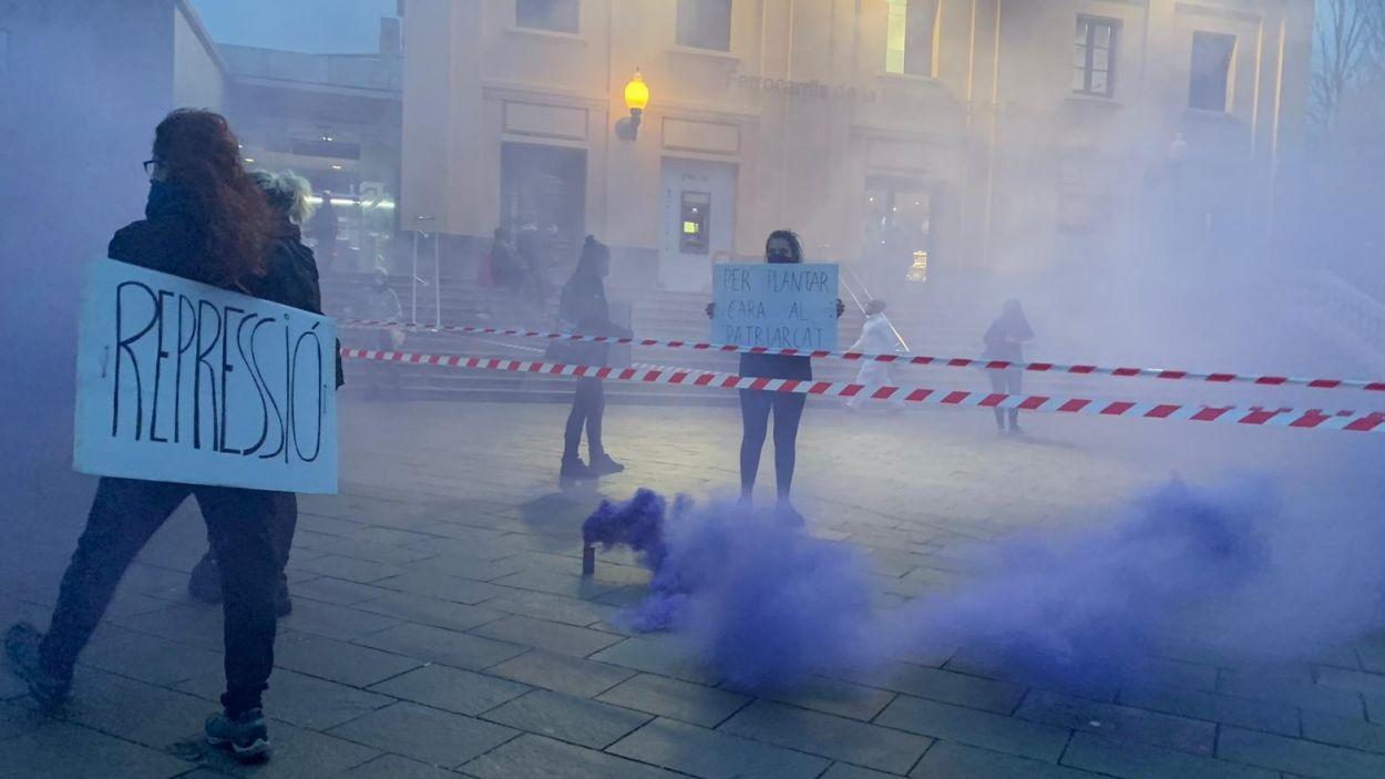 Moment de la protesta / Foto: Cugat Mèdia