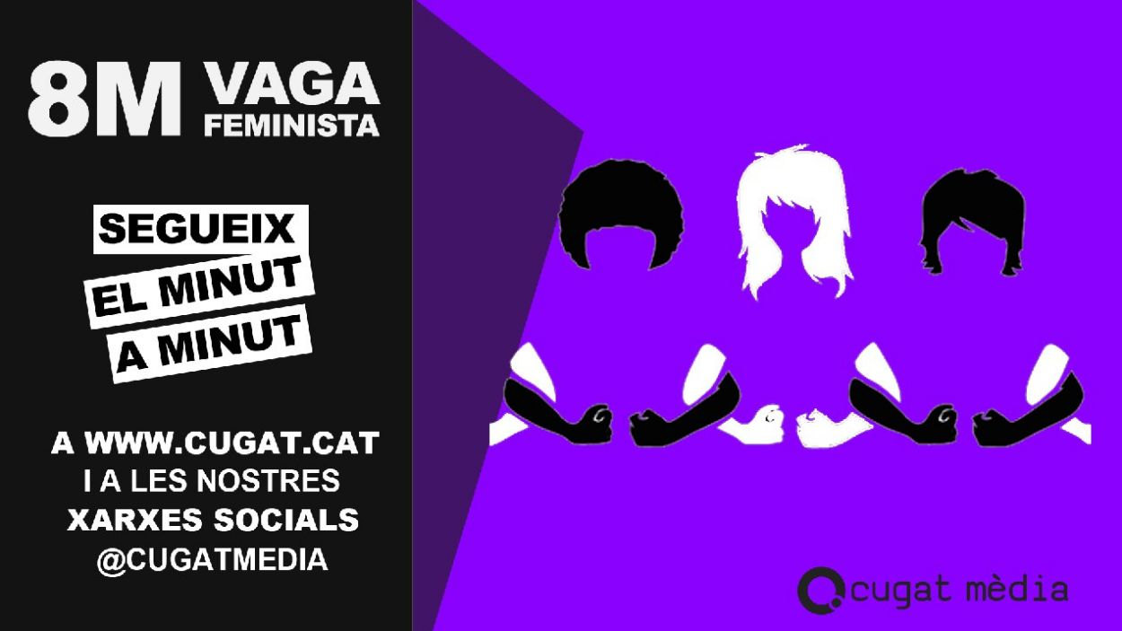 Cugat Mèdia farà un seguiment de la vaga feminista / Foto: Cugat Mèdia