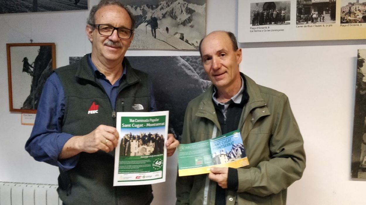 Bendinelli i Gonzalvo, president i vicepresident del Club Muntanyenc Sant Cugat / Foto: Cugat Mèdia