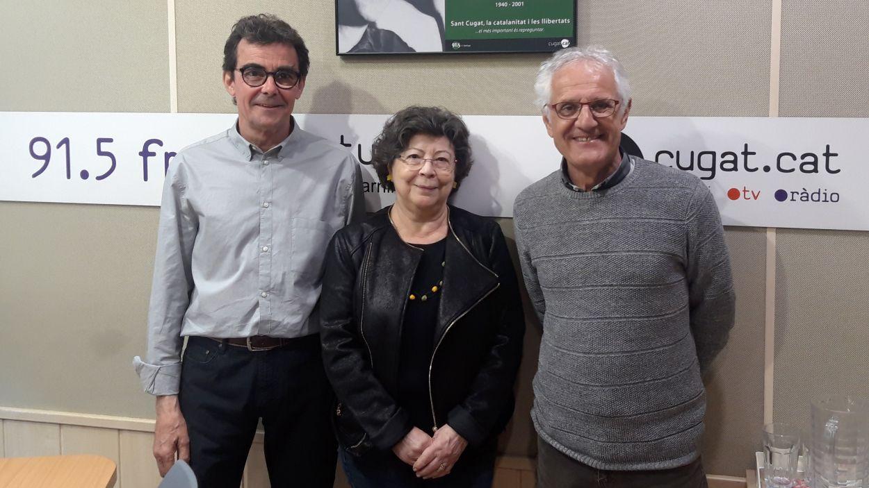 Mercè Carbonell amb Toni Samsó i Rogeli Pedró / Foto: Cugat Mèdia