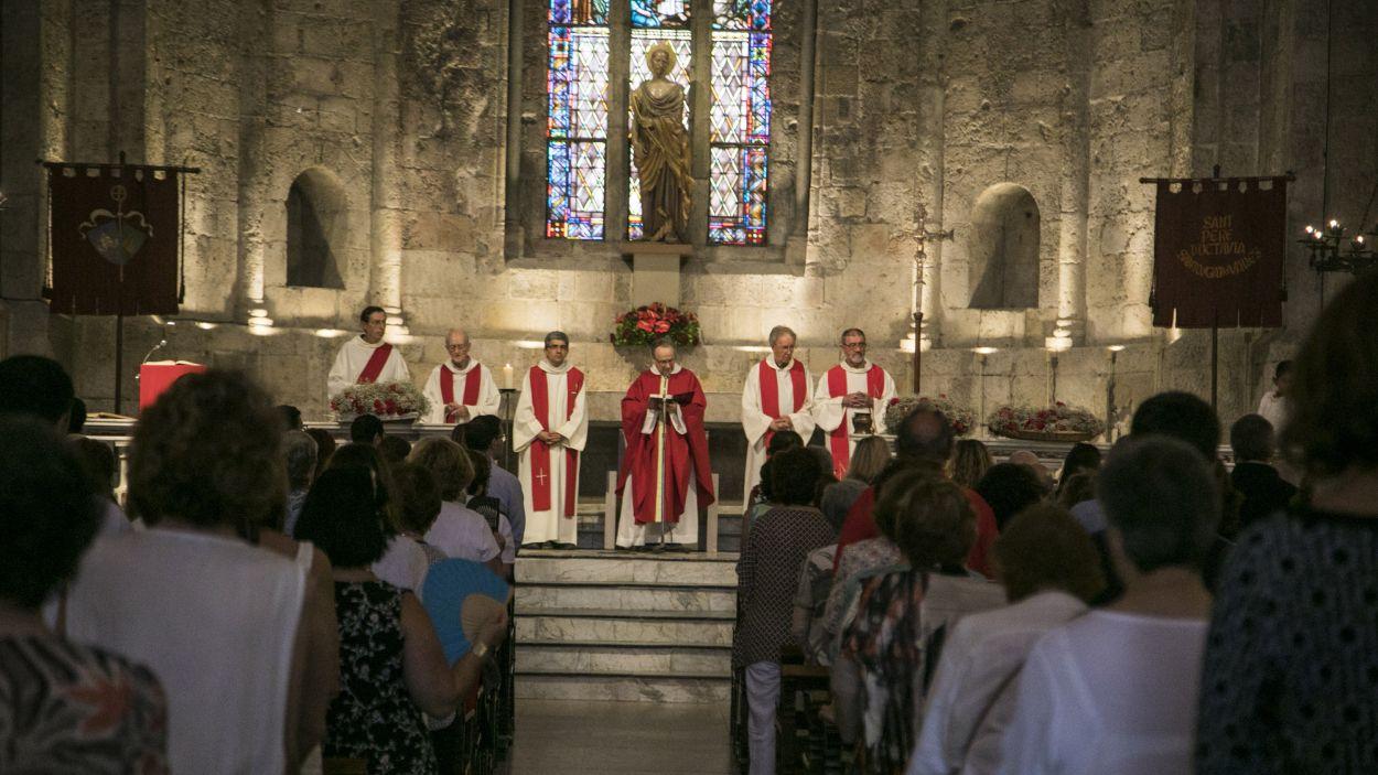 Imatge d'arxiu d'una missa al Monestir de Sant Cugat / Foto: Localpres