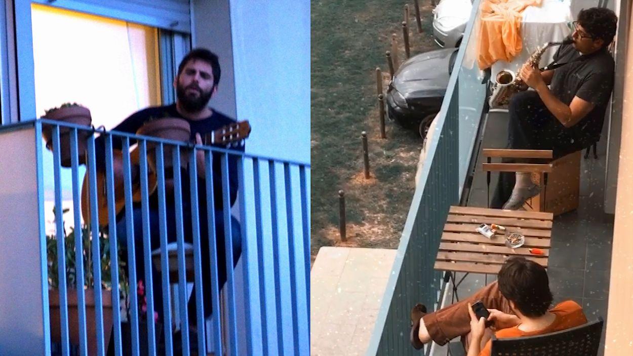 Música en directe als balcons de Sant Cugat, una altra alternativa cultural al confinament